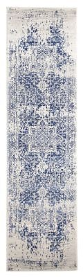 Hallway Runner Hall Rug Traditional Persian New White Navy 4 Meters Long Rug