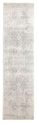 Hallway Runner Hall Rug Traditional Persian White Silver 4 Meters Long Runner