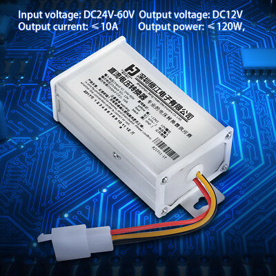 DC 24V-60V To 12V-10A 120W Converter Adapter for Electric Car Battery ark