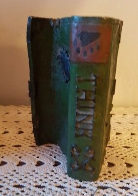 Boyds Bears Resin Green LIBRARY BOOK Folkstone Decor #65427 Limited edition!