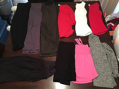 10 Ladies Maternity Pregnancy Clothes Lot Mixed Items Size Large