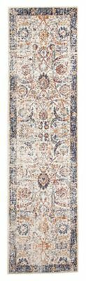 Hallway Runner Hall Rug Traditional Persian Ivory Multi 5 Meters Extra Long Mat
