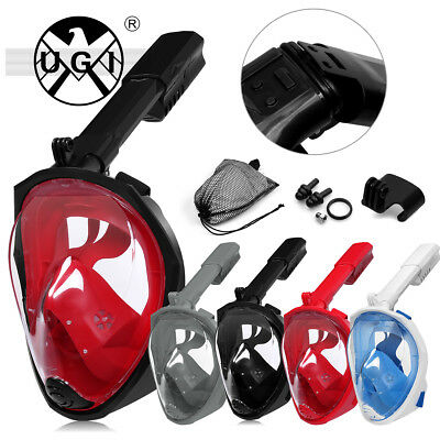 UGI Swimming Diving Collapsible Full Face Snorkel Scuba Breath Dry Mask XmasGift
