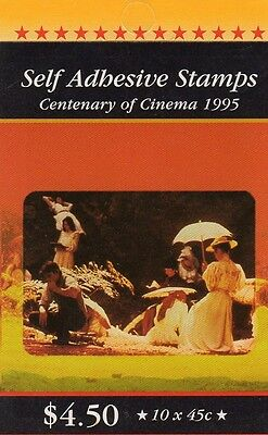 1995 AUSTRALIAN STAMP BOOKLET CENTENARY OF CINEMA 10 x 45c STAMPS MUH