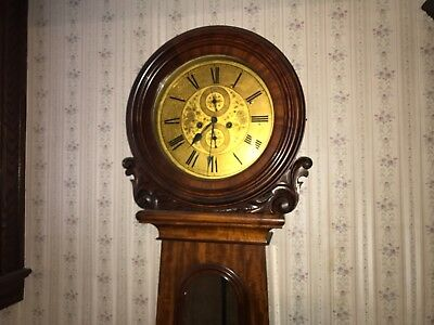 John Carswell Scottish Drumhead Grandfather Clock Killarney Estate Find