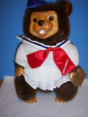 Raikes Lucy Beaver Timber Creek, MIB, RARE COA & Bear Never Numbered by Applause