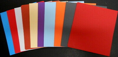TEXTURED CARDSTOCK X 10 - 10 COLOURS - scrapbooking/cardmaking/papercrafts