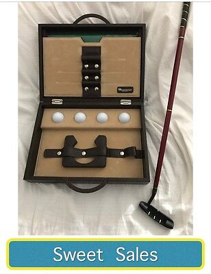 Brand New Renzo Romagnoli Leather Golf Set Gift Executive Made In Italy