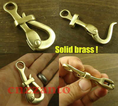 Totally Brass 4 inch Quick release Pelican Hook Shackle Sailing Boat Yacht