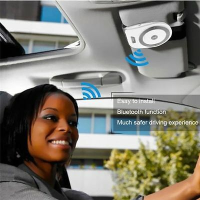 Stereo Bass Wireless Bluetooth Car Kit Speaker Handsfree For Iphone Samsung Gift
