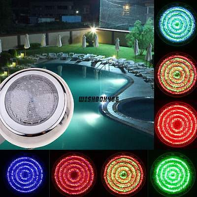 US Free 558 Led RGB Underwater Swimming Pool Light Fountains Remote Control Lamp