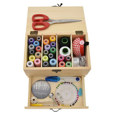 Wood Drawer Sewing Kit Household Storage Sew-on Line Handmade Thread Sewing Tool