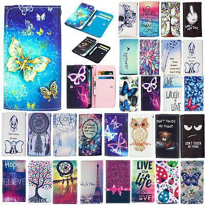 Cute PU Leather Wallet Bag Case Cover For Alcatel One Touch Pixi 3 Pixi 4 3.5-6""