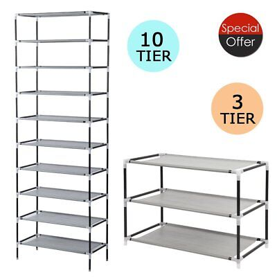 3 / 10 Tier  Shoe Rack Storage Organizer Tower Free Standing Space Saving MG