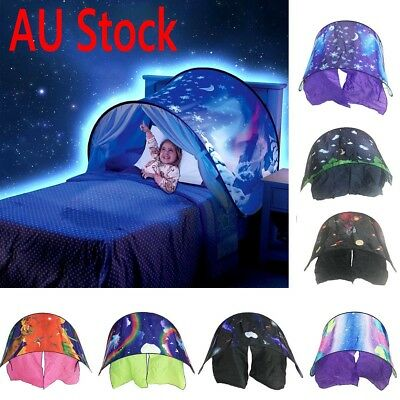 AU Dream Tents Snowflake Unicorn Space Star Foldable Tents Camping Outdoor Gift