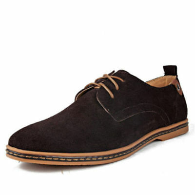 Men's Suede Dress Formal oxfords leather Shoes Casual European style Multi Size