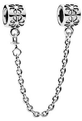Genuine Pandora Silver Floral Safety Chain 60mm (790385)