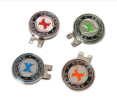 4 Colors x Magnetic Golf ball markers Hat clip Slope putting level marker Coin A
