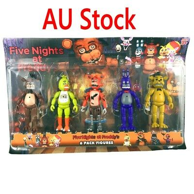 AU Five Nights at Freddy's Toys FNAF Action Figures Bonnie Chica Foxy Xmas Gift