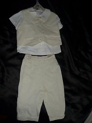 Designer Little Darlings Boys 4 Piece Outfit In Cream.age 3.98Cm Rrp £100.80%off