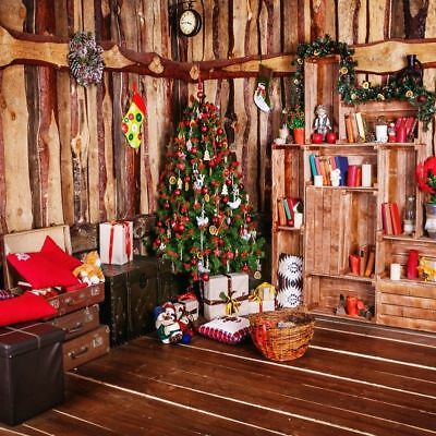 10x10FT Christmas Wooden House Ornaments Background Studio Photography Photo Pro