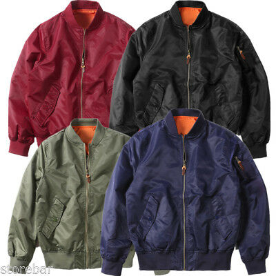 MA-1 Bomber Jacket Flight Coat Air Force Military Reversible Tactical