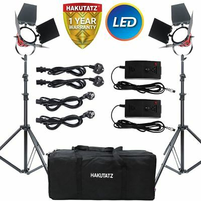 Continuous LED Red Head Lighting Kit 650W 5400K Video Light with Barn Doors