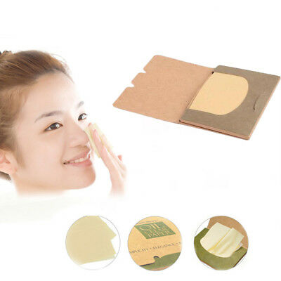 100Sheets Oil absorbing sheets Blotting paper Absorbent Tool Oil control ~