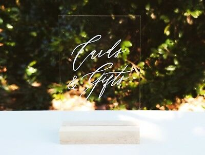 Cards And Gifts Wedding Décor Sign, Wishing Well Party Wedding Signage Acrylic