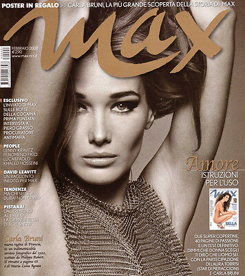 max magazine february 2008 carla bruni cover and free poster