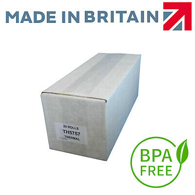 TRT5757 BPA FREE Thermal 57x57mm Till Rolls With Free Next Day Delivery* (D4)