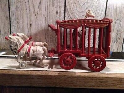 Vintage Cast Iron Toy Replica - Circus Wagon with Giraffe