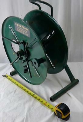 Vintage Metal Heavy Duty Cable, Wire Reel by Porta Phone