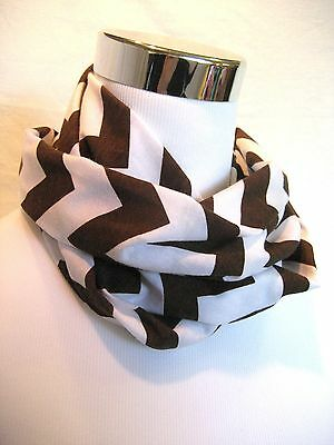Baby TODDLER Child's Brown Chevron jersey knit Infinity Scarf PHOTO PROP