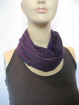 Baby TODDLER Child's solid dark purple jersey knit Infinity Scarf PHOTO PROP