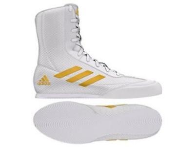 Adidas Boxing Box Hog Plus Boots Shoes - White/Gold  DA9899