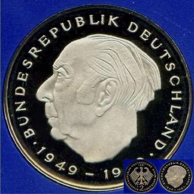 1974 D * 2 Mark T. Heuss, Erhaltung: Polierte Platte PP proof top