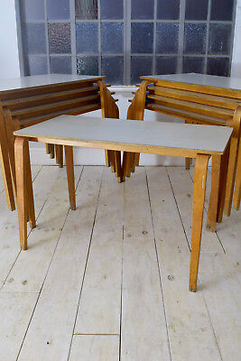 Vintage Old ESA Esavian Bentwood School Table Mid Century Stacker CAN DELIVER