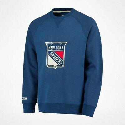 "CCM Fleece Crew Sweatshirt "" New York Rangers "" Senior"