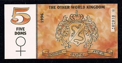 5 DOMS, Other World Kingdom, Series 1996, PRIVATE ISSUE , Czech Republic