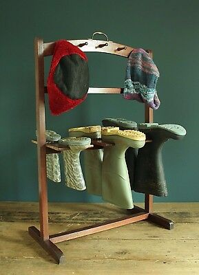 Antique Mahogany Boot & Whip Rack. Victorian 19th century.
