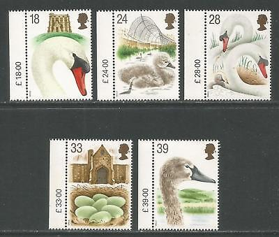 Great Britain 1993 Abbotsbury Swannery--Attractive Bird Topical (1473-77) MNH