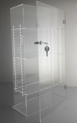 Acrylic Display Case Tower with ADJUSTABLE SHELVES door, lock and keys