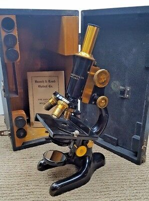 Antique Brass Bausch & Lomb Opt. Co. Compound Microscope Pat. Jan 5 1915 #203712