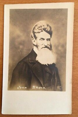 JOHN BROWN VINTAGE REAL PHOTO POSTCARD c1920 ABOLITIONIST HARPER'S FERRY HISTORY