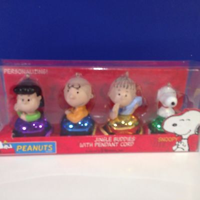 PEANUTS JINGLE BUDDIES WITH PENDANT CORD Ornaments Charlie Brown Snoopy NEW!
