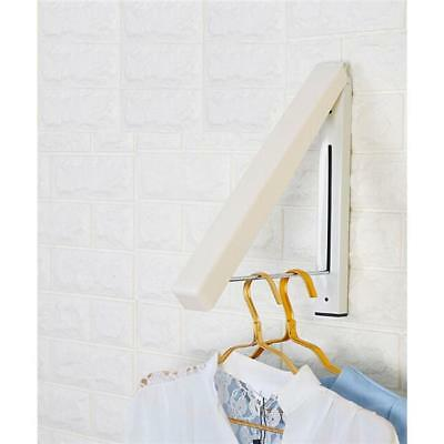 Steel Wall Mounted Clothes Rack Retractable Foldable Magic Hanger Rail Storage N