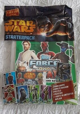 TOPPS STAR WARS FORCE ATTAX Serie 5 Starterpack OVP