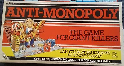 Vintage 1970's Original Anti-Monopoly Board Game by John Sands