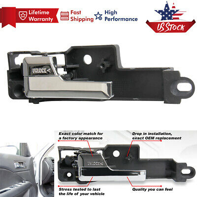 New Front Inner Inside Door Handle Chrome Left Driver Side For Ford Fusion 06-12